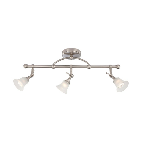 Nuvo Lighting Modern Directional Spot Light with White Glass in Brushed Nickel Finish 60/4154