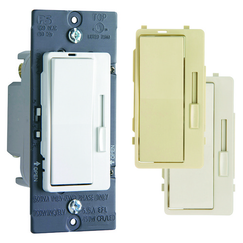 Legrand Adorne Legrand Harmony Tru-Universal Dimmer with 3 Interchangeable Faceplates H703PTUTC