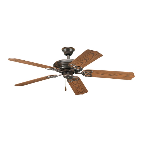 Progress Lighting Progress Ceiling Fan Without Light in Antique Bronze Finish P2502-20
