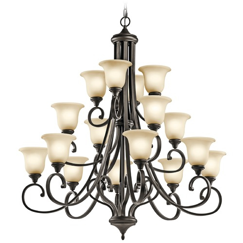 Kichler Lighting Kichler Monroe 3-Tier 16-Light Chandelier in Olde Bronze 43192OZ