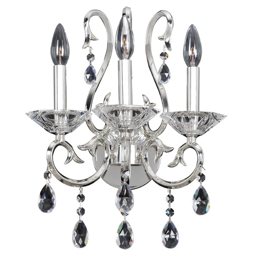 Allegri Lighting Cesti 3 Light Wall Sconce w/ Silver 023721-014-FR001