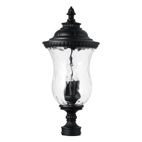 Capital Lighting Capital Lighting Ashford 3-Light Black Post Light 939832BK