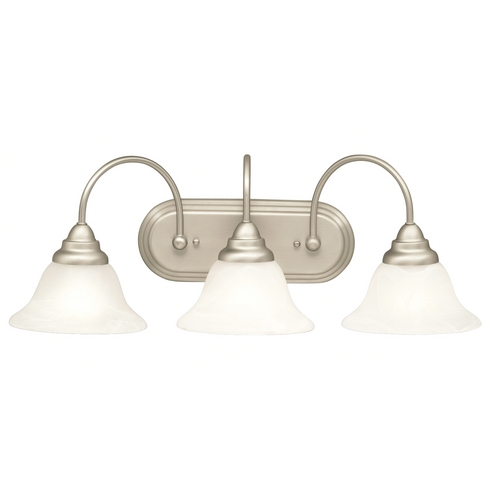 Kichler Lighting Kichler Bathroom Light in Brushed Nickel Finish 10609NI