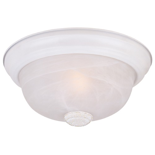 Designers Fountain Lighting Flushmount Light with Alabaster Glass in White Finish 1257M-WH-AL