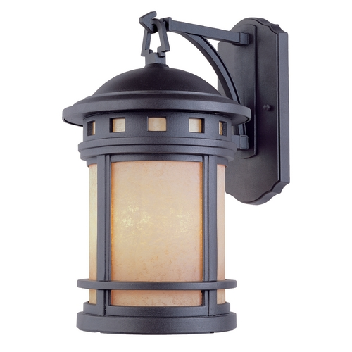 Designers Fountain Lighting Outdoor Wall Light with Amber Glass in Oil Rubbed Bronze Finish 2381-AM-ORB