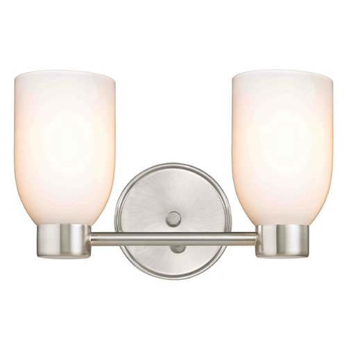 Design Classics Lighting Aon Fuse Satin Nickel Bathroom Light 1802-09 GL1024D