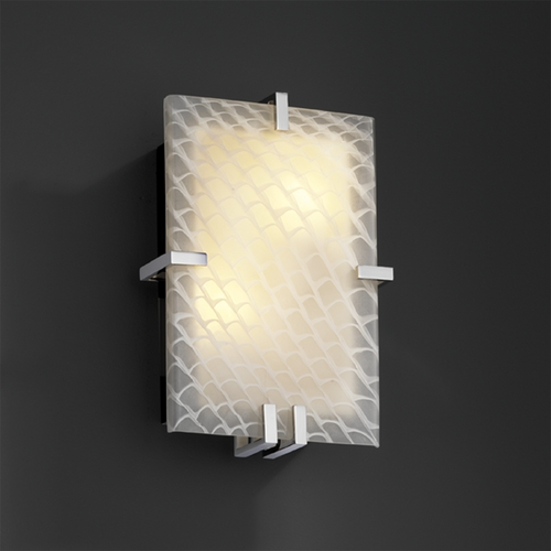 Justice Design Group Justice Design Group Fusion Collection Sconce FSN-5551-WEVE-CROM