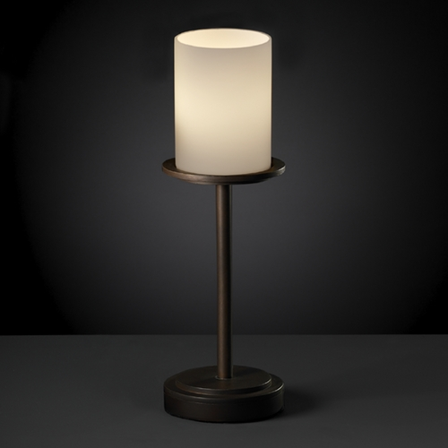 Justice Design Group Justice Design Group Fusion Collection Table Lamp FSN-8799-10-OPAL-DBRZ