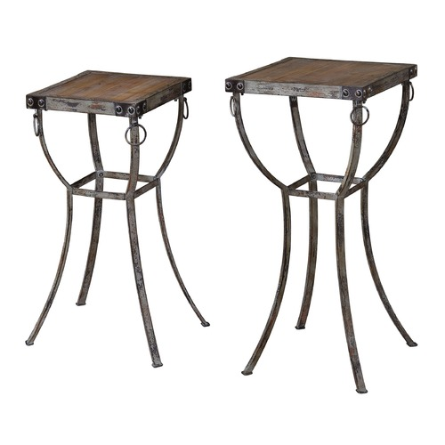 Uttermost Lighting Uttermost Hewson Plant Stands Set of 2 24313