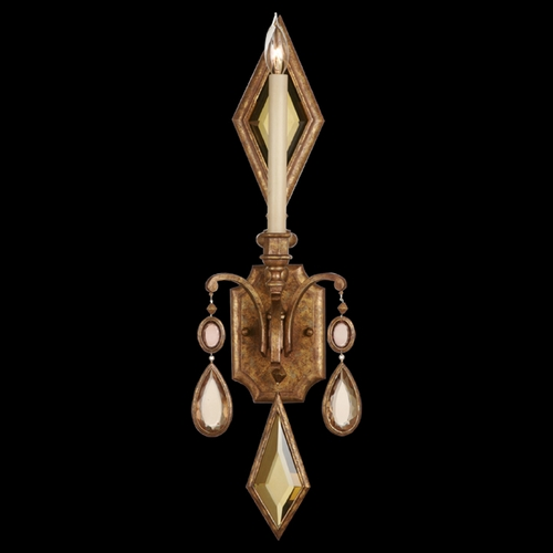 Fine Art Lamps Fine Art Lamps Encased Gems Gold Leaf Sconce 728850-1ST