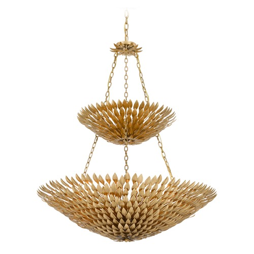 Crystorama Lighting Crystorama Lighting Broche Antique Gold Pendant Light 599-GA