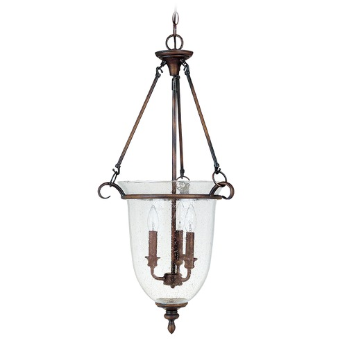 Capital Lighting Capital Lighting Burnished Bronze Pendant Light with Bowl / Dome Shade 9310BB