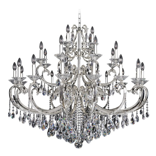 Allegri Lighting Cesti 28 Light Crystal Chandelier w/ Black Pearl 023750-007-FR001