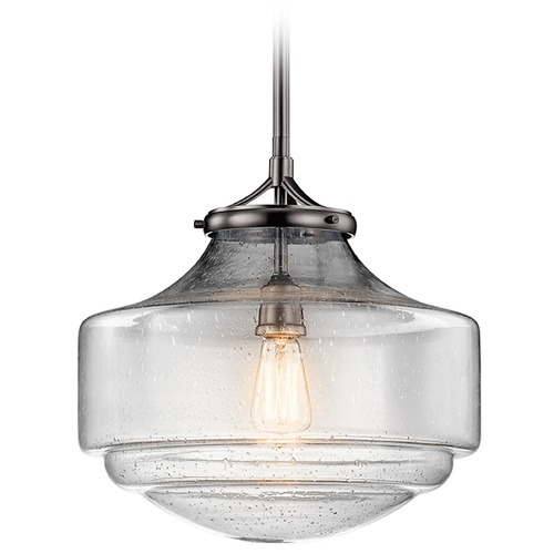 Kichler Lighting Kichler Lighting Keller Pendant Light with Bowl / Dome Shade 43564SNI