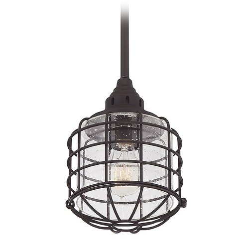 Savoy House Savoy House Lighting Connell English Bronze Mini-Pendant Light with Cylindrical Shade 7-576-1-13