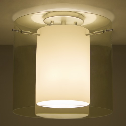 Besa Lighting Besa Lighting Pahu Satin Nickel LED Semi-Flushmount Light 1KM-Y18407-LED-SN