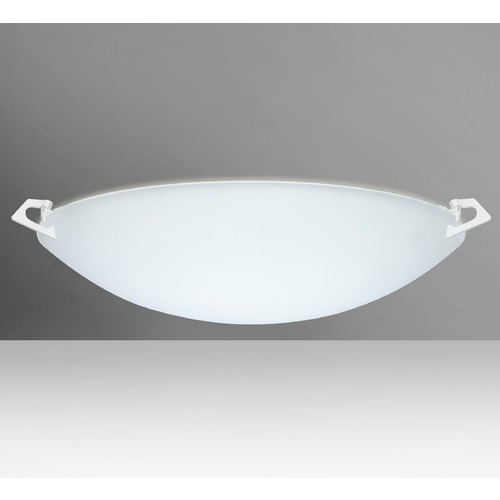 Besa Lighting Besa Lighting Sonya Frosted Glass White LED Flushmount Light 841825-LED-WH