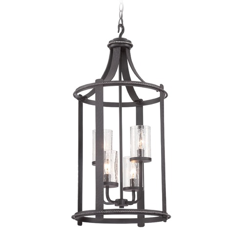 Designers Fountain Lighting Seeded Glass Pendant Light Black Designers Fountain Lighting 87554-APW