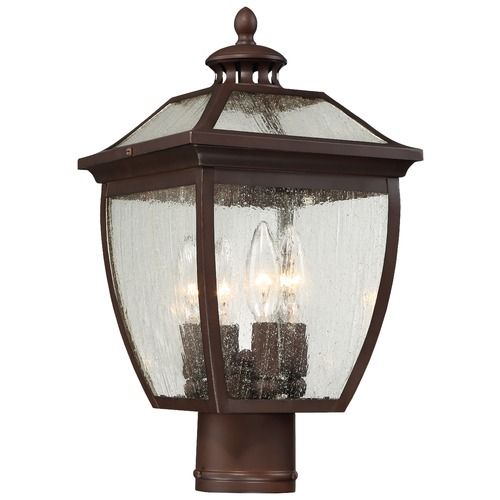 Minka Lavery Seeded Glass Post Light Bronze Minka Lavery 72526-246