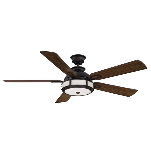 Savoy House Savoy House Lighting Del Rio English Bronze LED Ceiling Fan with Light 56-5000-5WA-13