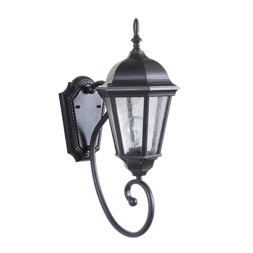 Craftmade Lighting Seeded Glass Outdoor Wall Light Black Craftmade Lighting Z2950-11