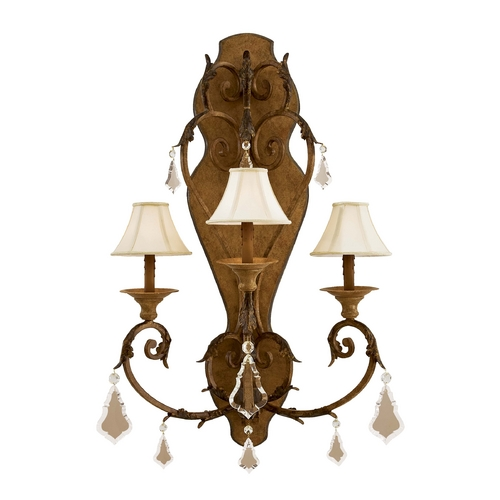 Metropolitan Lighting Crystal Sconce Wall Light in Padova Finish N6222-363