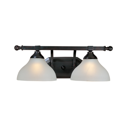 Maxim Lighting Bathroom Light with White Glass in Oil Rubbed Bronze Finish 21272FTOI