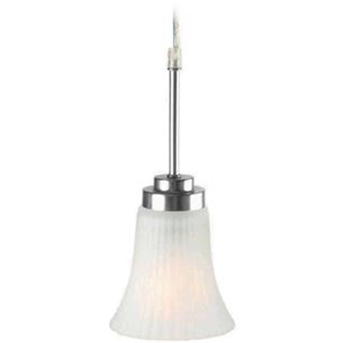 Lite Source Lighting Modern Mini-Pendant Light with White Glass LS-19941SS/FRO
