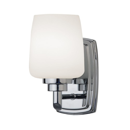 Design Classics Lighting Polished Chrome Sconce with Opal White Glass 461-26