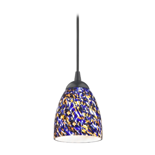 Design Classics Lighting Modern Mini-Pendant Light 582-07 GL1009MB