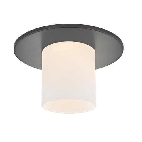 Recesso Lighting by Dolan Designs Bronze Decorative Recessed Ceiling Trim with Frosted Cylinder Glass 10532-46