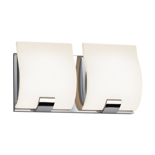 Sonneman Lighting Modern Bathroom Light with White Glass in Polished Chrome Finish 3882.01