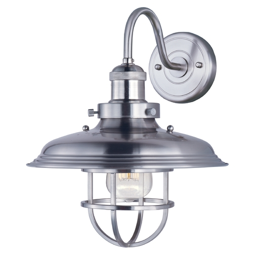 Maxim Lighting Maxim Lighting Mini Hi-Bay Satin Nickel Sconce 25091SN/BUI