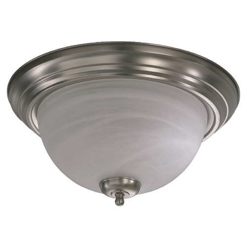Quorum Lighting Quorum Lighting Satin Nickel Flushmount Light 3066-15-65