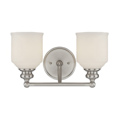 Savoy House Savoy House Lighting Melrose Satin Nickel Bathroom Light 8-6836-2-SN