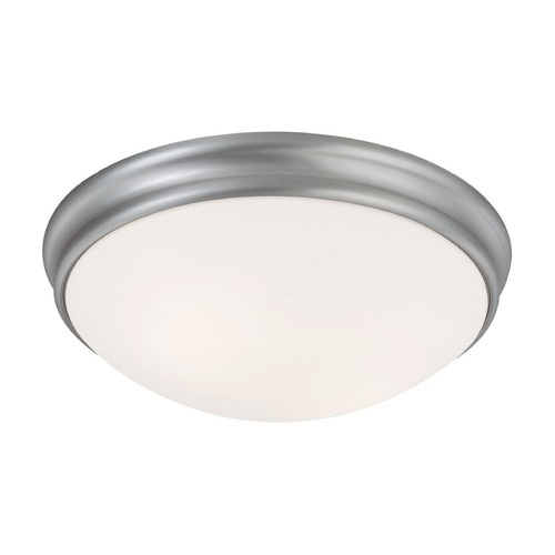 Capital Lighting Capital Lighting Matte Nickel Flushmount Light 2032MN