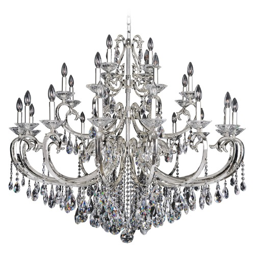 Allegri Lighting Cesti 28 Light Crystal Chandelier w/ Silver 023750-014-FR001