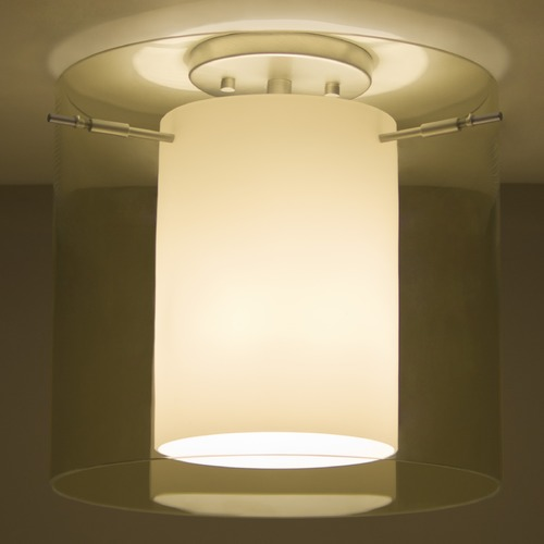 Besa Lighting Besa Lighting Pahu Satin Nickel Semi-Flushmount Light 1KM-Y18407-SN