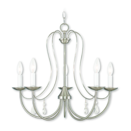 Livex Lighting Livex Lighting Mirabella Brushed Nickel Chandelier 40865-91