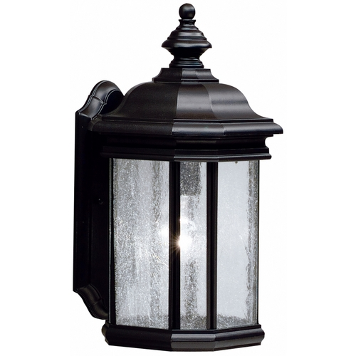 Kichler Lighting Kichler Outdoor Wall Light with Clear Glass in Black Finish 9029BK