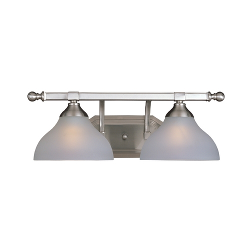 Maxim Lighting Bathroom Light with White Glass in Satin Nickel Finish 21272FTSN
