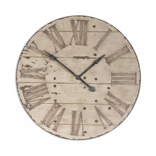 Uttermost Lighting Clock in Antique Ivory Finish 06671