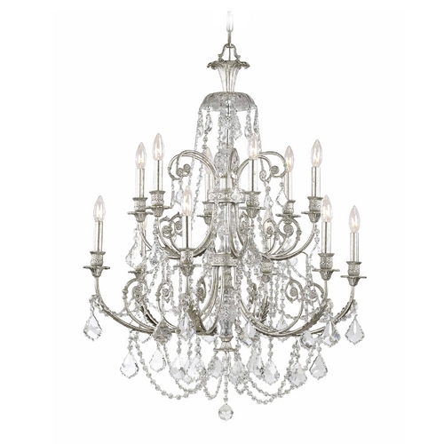 Crystorama Lighting Crystal Chandelier in Olde Silver Finish 5119-OS-CL-MWP