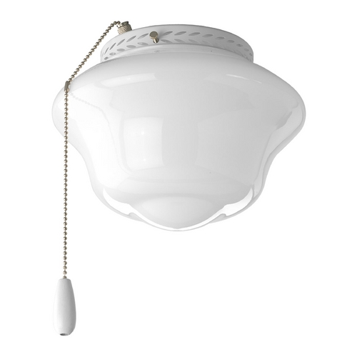 Progress Lighting Progress Ceiling Fan Light Kit with White Glass in White P2644-30