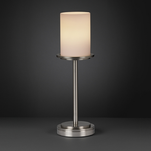 Justice Design Group Justice Design Group Fusion Collection Table Lamp FSN-8799-10-OPAL-NCKL