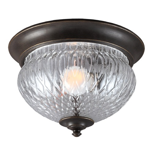 Sea Gull Lighting Sea Gull Lighting Garfield Park Burled Iron Close To Ceiling Light 7826401-780