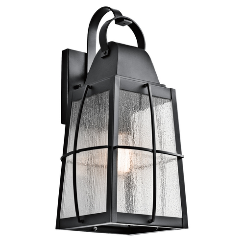 Kichler Lighting Kichler Lighting Tolerand Textured Black Outdoor Wall Light 49554BKT