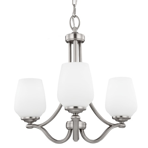 Feiss Lighting Feiss Lighting Vintner Satin Nickel Mini-Chandelier F2963/3SN