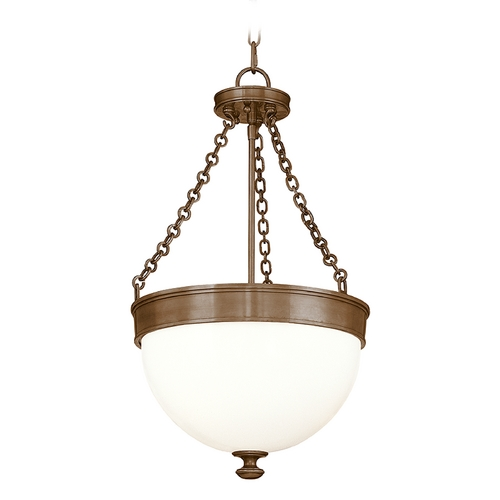 Hudson Valley Lighting Pendant Light with White Glass in Historic Bronze Finish 324-HB