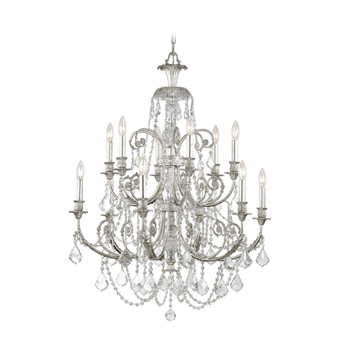Crystorama Lighting Crystal Chandelier in Olde Silver Finish 5119-OS-CL-S